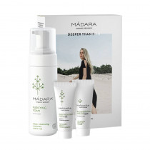 Mádara Become Organic SET (Purifying Foam 150ml + Deep Moisture Fluid 25ml + Regenerating Night Cream 25ml) 1 Set