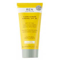 REN Clean Screen Mattifying Sunscreen SPF30 50 ml