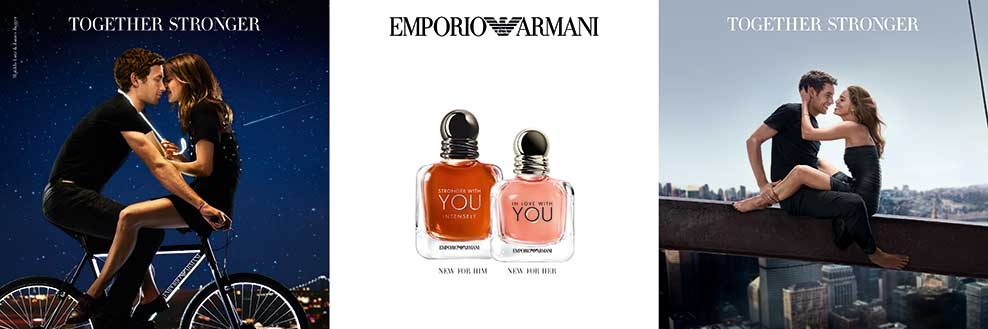 Emporio Armani In Love With You EDP, Stronger With You Intensely EDP Banner