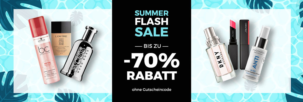 SUMMER FLASH SALE - Artikel bis zu -70% rabattiert bei CosmeticExpress