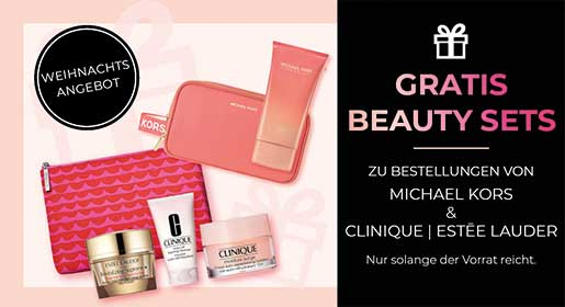 Gartis Beauty Sets von Michael Kors, Estee Lauder und Clinique bei CosmeticExpress