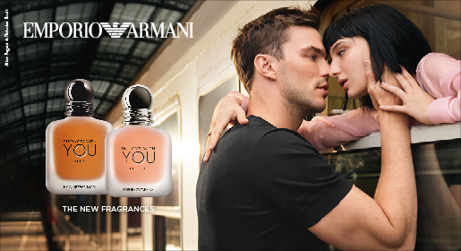 Emporio Armani In Love With You Freeze EDP, Stronger With You Freeze EDP Banner