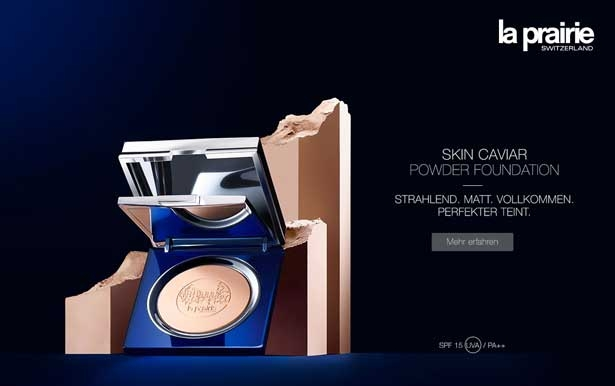 La Prairie Skin Caviar Powder Foundation CosmeticExpress Banner