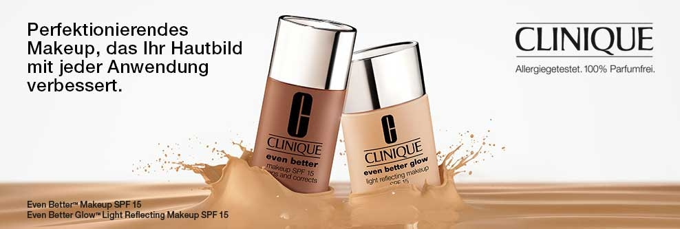 Clinique Even Better & Even Better Glow Make-up Banner