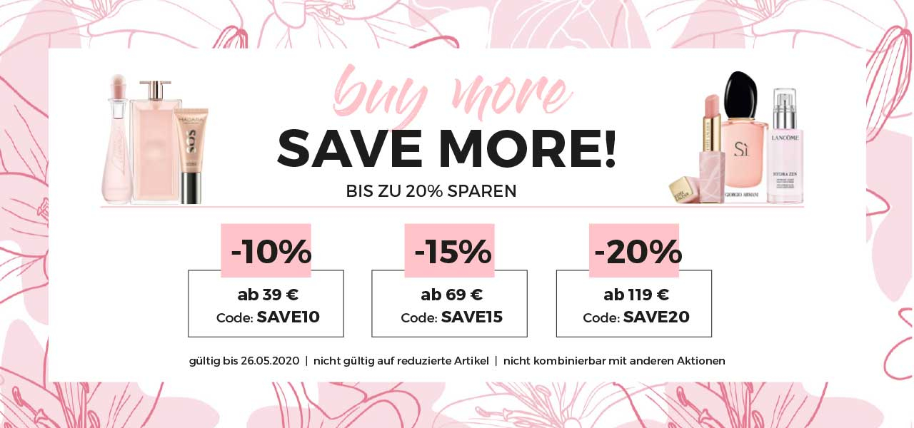buy more - save more: bis zu 20% sparen